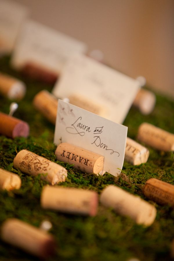 Name place cards. Can have on tables or a side table for people to pick up and sit where they want depending if you want to do a seating chart or not.