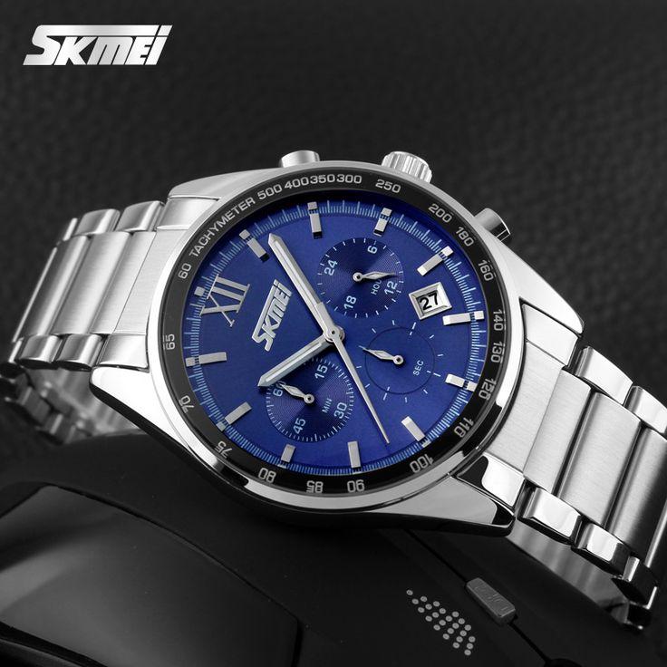 Top Luxury Brand SKMEI Chronograph 6 Function Hand Military Men Watch Full Steel Quartz Watches Brand Reloj Deportivo Hombre #Affiliate