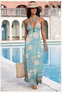 maxi shell dress