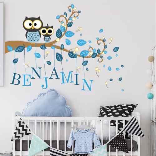 Vinilos decorativos infantiles arboles animales aib 11 al for Decoracion hogares infantiles