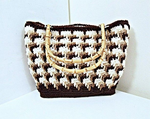 Apache Tears Crochet Tote Bag