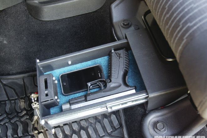 Pistol Lock Box Under Jeep Seat Instruments Of Defense