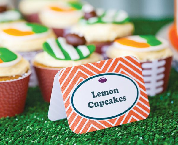 """Go Canes"" UM Football Themed Birthday Party // Hostess with the ..."