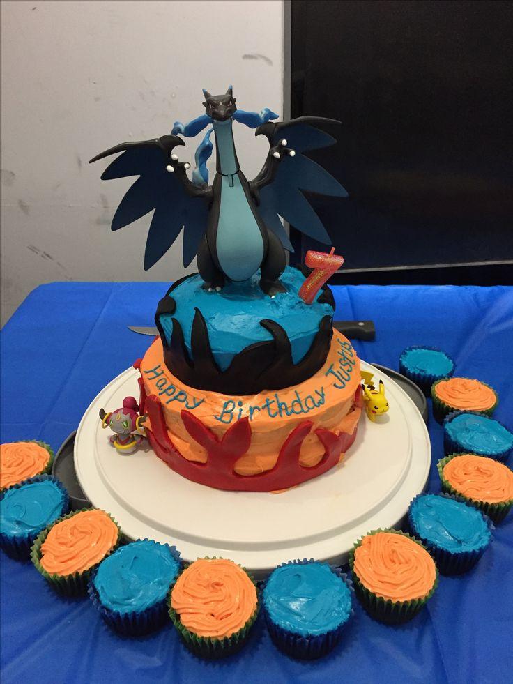 Mega Charizard Cake I Made For My Son Pok 233 Mon Birthday