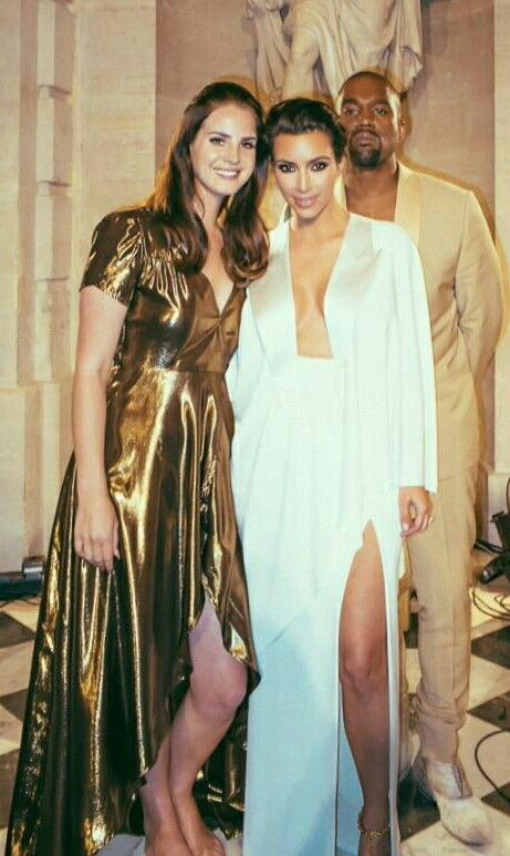 Lana Del Rey with Kim Kardashian and Kanye West at their wedding #LDR