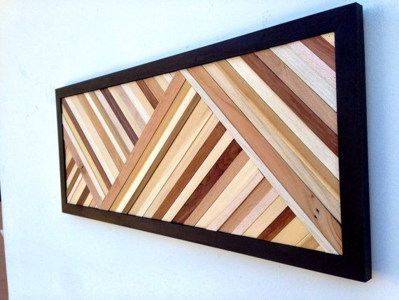 Wood Wall Art Wood Art Sculpture Reclaimed di moderntextures
