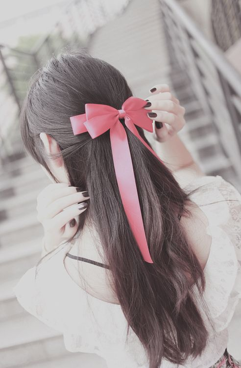 styles of hair bows best 25 ribbon hairstyle ideas on hairstyles 5720 | 8526b8e5b820a3640351266dfaac7038 kawaii hairstyles fun hairstyles