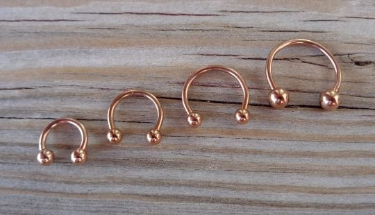 Rose Gold Horseshoe Circular Barbell Septum,Helix,Cartilage,Scaffold,Upper Ear,Lobe,Nose Ring   Body Jewelry 316L Surgical Steel 16 Gauge (1.2mm) Barbell  Diameter:6mm with 3mm balls Diameter:8mm with 3mm balls Diameter:10mm with 3mm balls Diameter:12mm with 4mm balls