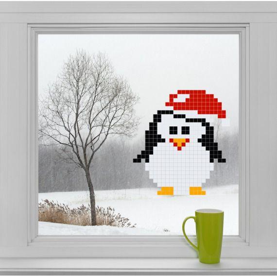 Świąteczny pingwinek - Puzzle do naklejania