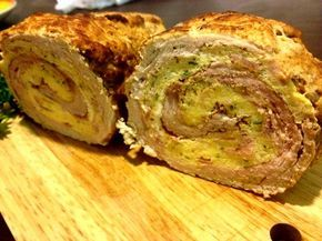 Pork roll filled with egg - Veprova rolada s vajecnou naplni