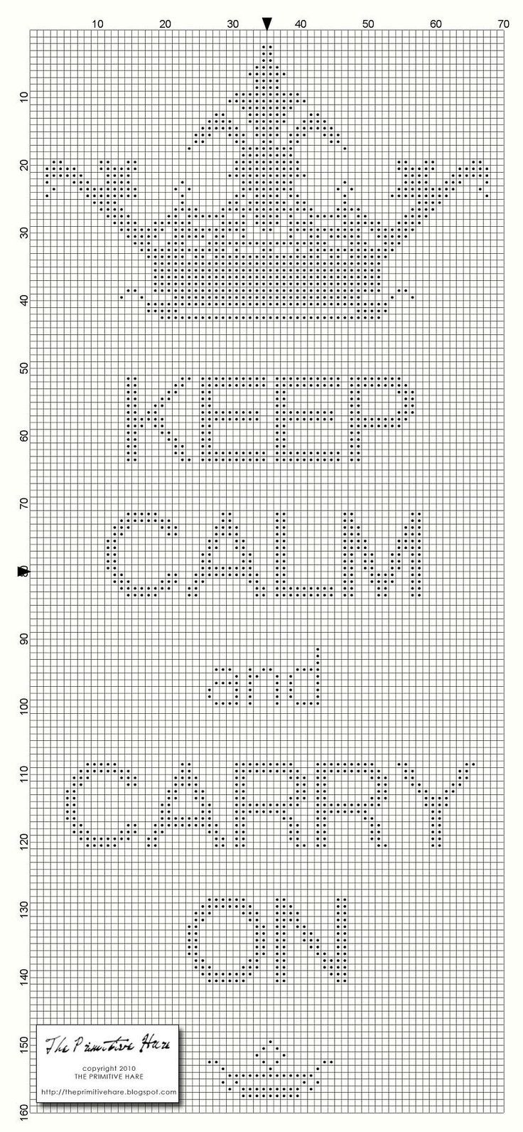 Keep Calm and Carry On free pattern from The Primitive Hare