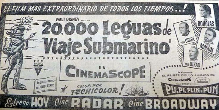 20,000 LEAGUES UNDER THE SEA - Richard Fleischer - (LA CAPITAL, May, 1956, Rosario, Argentina)