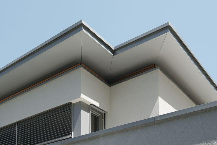 #Passivhaus #Flachdach #Dachüberstand