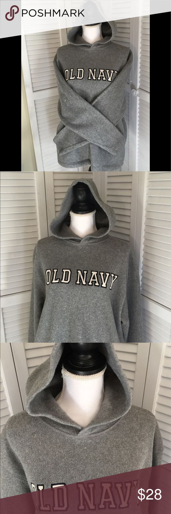 "Old Navy Pullover Hoodie Drawstring bottom Old Navy Pullover Hoodie Drawstring bottom Excellent Used Condition. 22"" pit to pit. Worn a handful of times. Too warm for North Carolina climate. Lost in the recesses of my guest bedroom closet, rediscovered when I started Poshing. 😉 Old Navy Jackets & Coats"