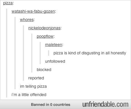 *looks down at pile of pizza* *shakes head* some people...some people