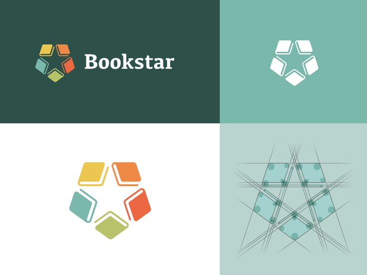 Bookstar Refined Identity.   Thanks to lots of useful feedback on this concept I've now completed this with more perfectnesses in overall balance and calculations. I've also made the mark more suit...