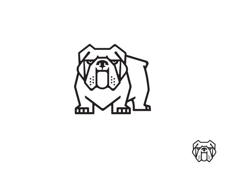 Bulldog 2 Drib by Mike Bruner #Design Popular #Dribbble #shots