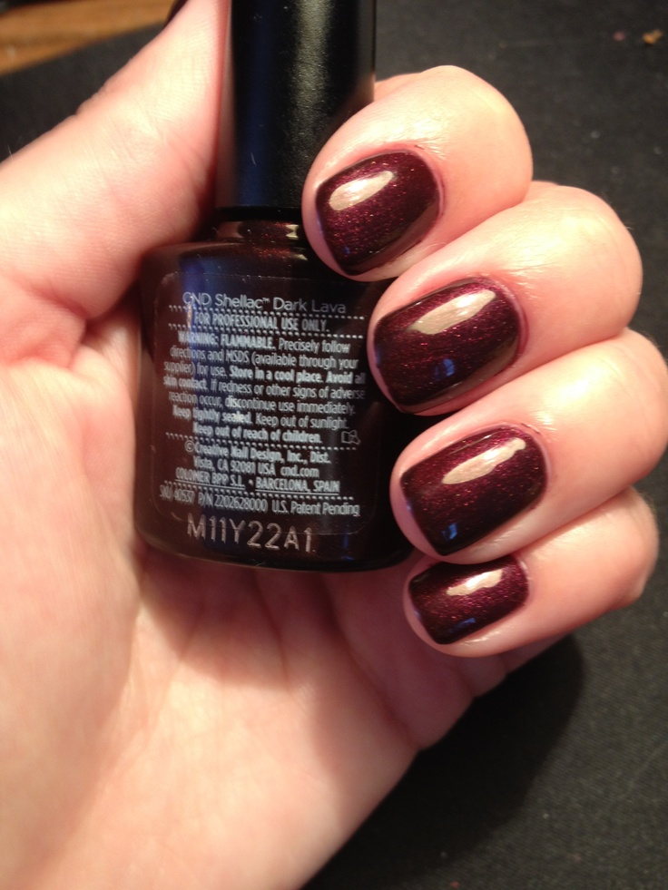 Image result for dark red nail cnd varnish