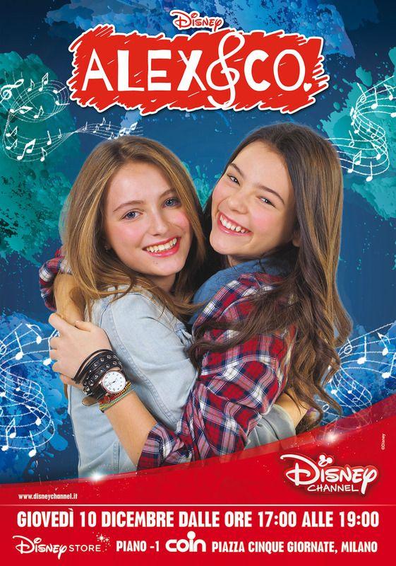 """Fai vivere ai tuoi bambini l'emozione di incontrare dal vivo le attrici di Alex & Co. che interpretano """"Emma e Nicole"""". Ti aspettiamo domani 10 dicembre dalle 17.00 presso il Disney Store di Coin Milano V Giornate"""