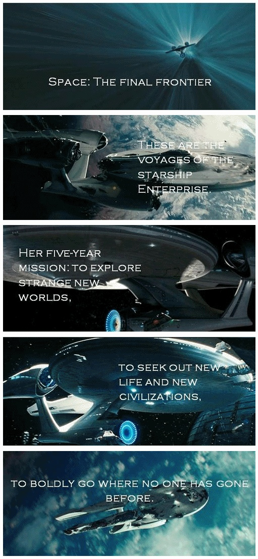 For some reason, the fact that Leonard Nimoy said this in the movie made me tear up...it's come full circle!