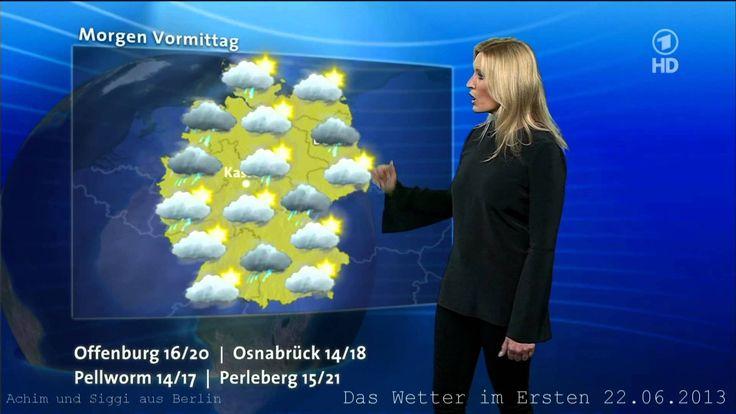 Claudia Kleinert 22,06.2013 Satellitenfilm Wetter Vorhersage ARD HD