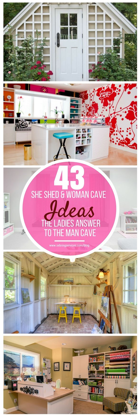 Like a man cave, a woman cave can be located in various areas of the house, especially off-traffic spaces. A basement remodel is usually a time to add a spot for a woman cave, though it can also be located in an unused bedroom or any other secluded part of the house. But it is not always the case that women find their sanctuaries inside the house, sometimes it can be located outside the house. In such cases, it is more commonly referred to as a she-shed.
