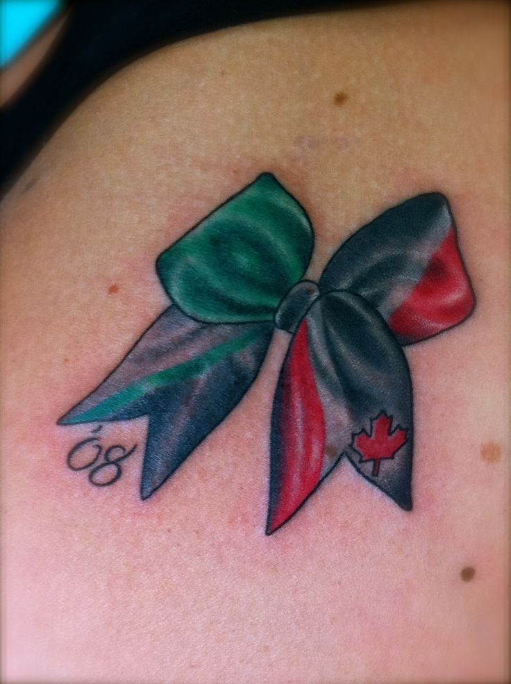 Cheer Bow Tattoo