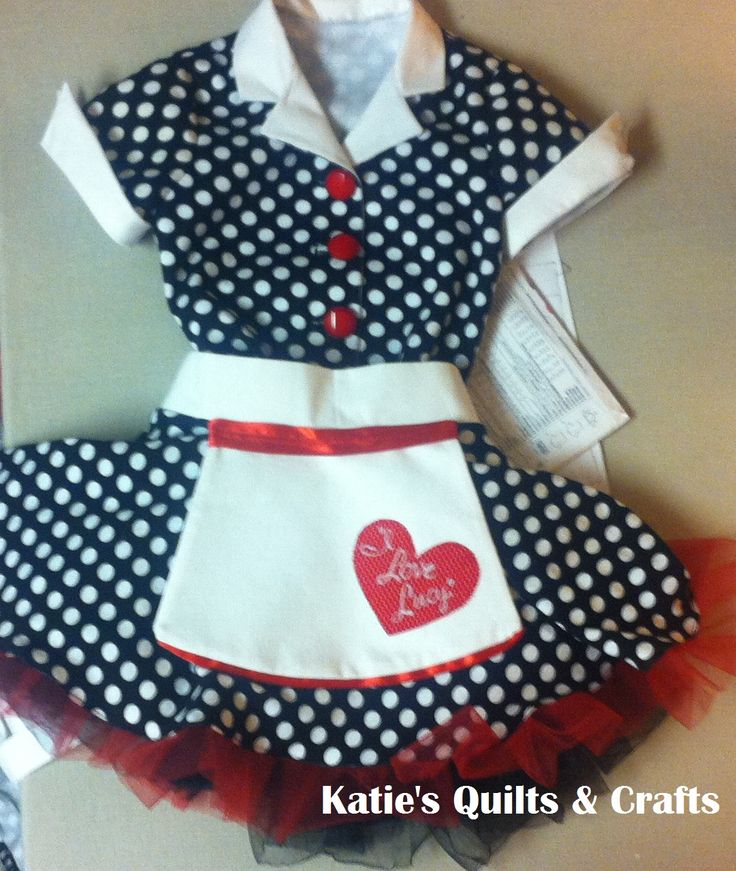 """Katie's Quilts and Crafts: """"I Love Lucy"""" Toddler Costume"""
