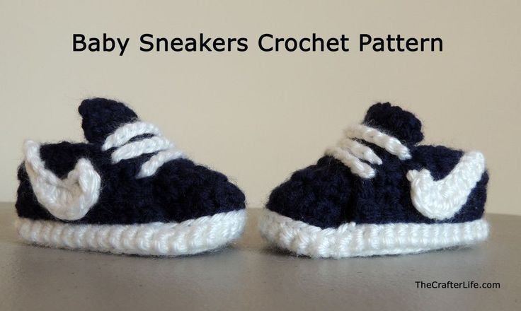 Wonderul DIY Crochet Nike Style Baby Sneakers with FREE Pattern - Cretíque