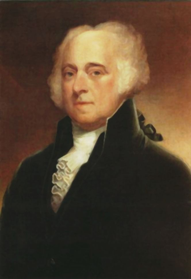 President John Adams, 2nd POTUS, served 1797-1801.
