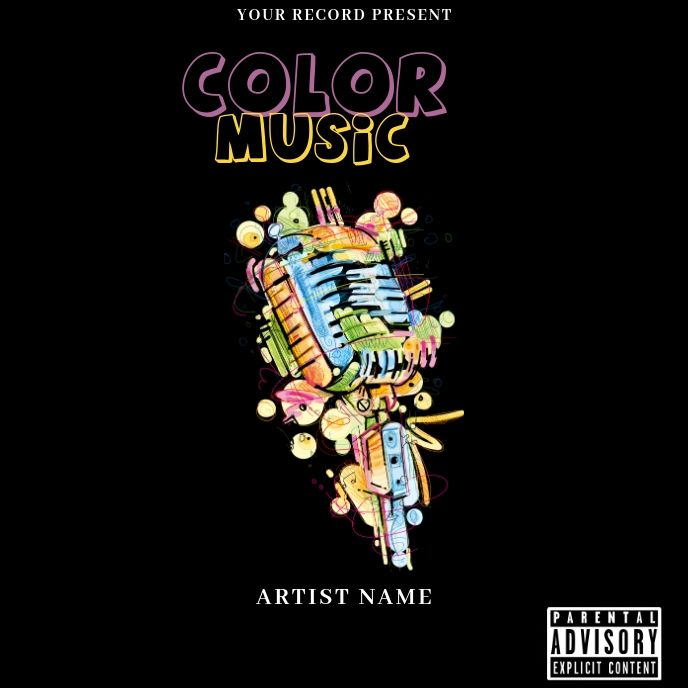 Color Music Mixtape Album Cover Art Album Cover Art Music Coloring Album Covers