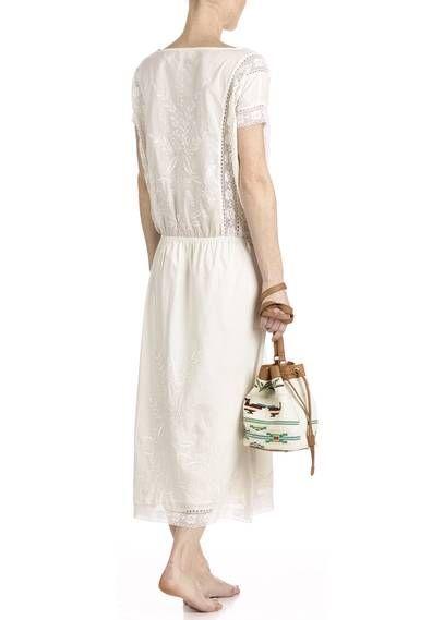 Robe longue brodée  Blanc by BA  SH