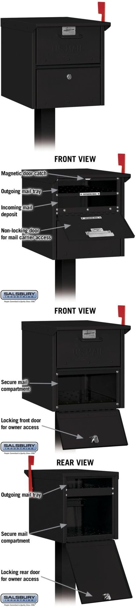 Mailboxes and Slots 20599: Salsbury Industries Post-Mount Roadside Mailbox -> BUY IT NOW ONLY: $121.4 on eBay!