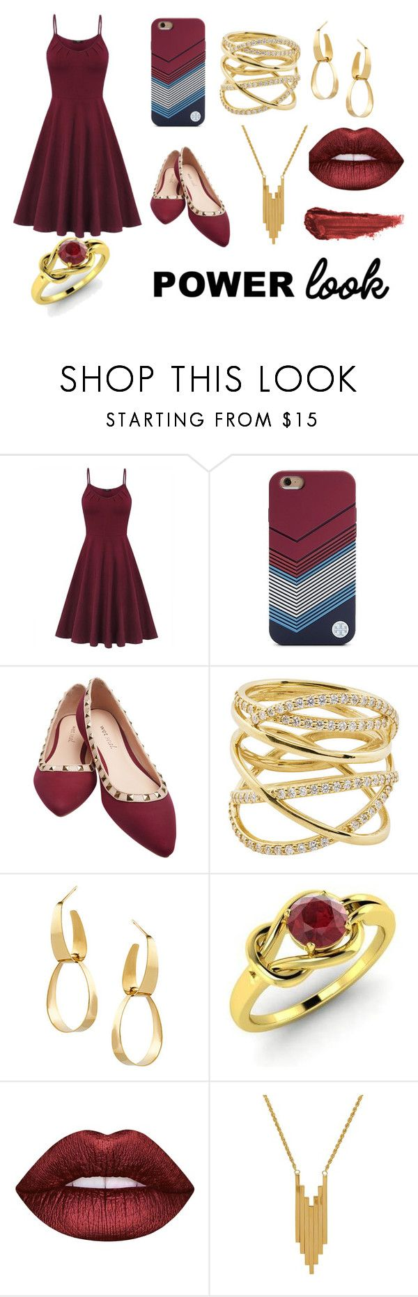 """""""Sin título #364"""" by candy-nohemi-velazco-mendiola ❤ liked on Polyvore featuring Tory Burch, Wet Seal, Lana, Diamondere, Lime Crime, Lord & Taylor and By Terry"""