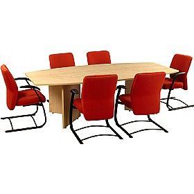 #Officefurniture - Balcary Barrel Shaped #BoardroomTables - its unique designs has its own appeal. It adds a different appeal to the boardrooms and the boring meetings will never be the same again. The desks are available in choice of 12 colours that can be teamed with matching colours #officechairs.