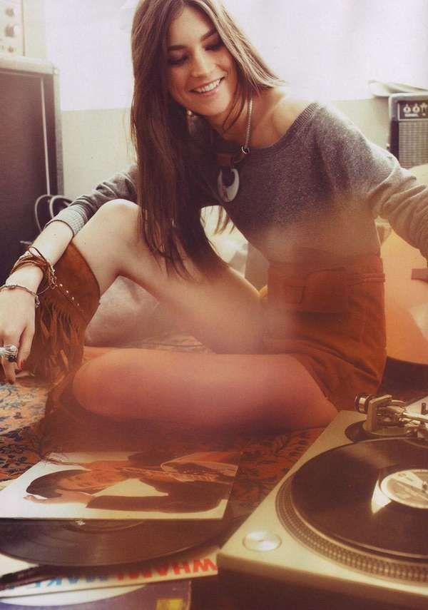 Music-Loving 70s Fashion - The H Magazine Spring 2011 Editorial is Hippie Haute (GALLERY): Music, Boho Chic, Fashion, Girl, Style, Vinyl, Photo, Bohemian