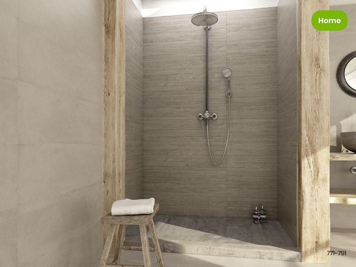 Landelijk Badkamer Tegels : Inspiratie landelijk moderne badkamer met houtlook tegels jan