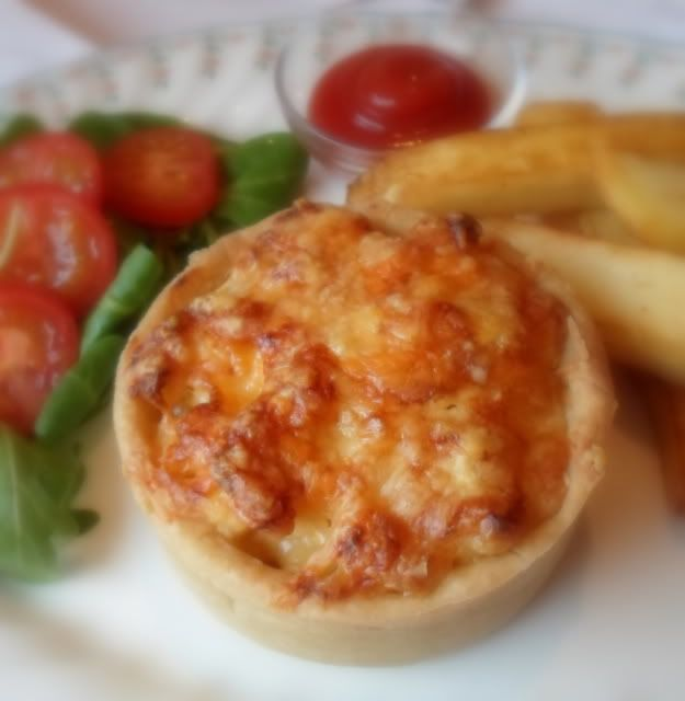 Macaroni Pies from Scotland, United Kingdom. Macaroni & cheese in a hot water pastry crust.