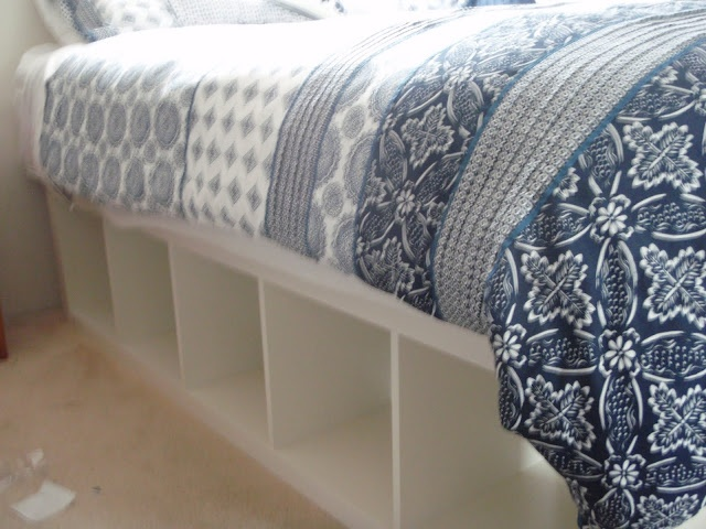 DIY Ikea Shelves - Bed