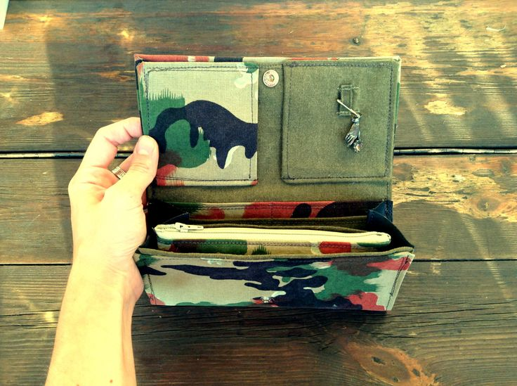 Wallet canvas military www.chicapui.com