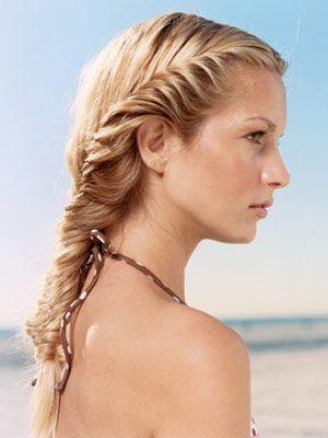 pretty: Braids Hairstyles, Beaches Hair, Fish Tail, Summer Hair, Long Hair, Hair Style, Fishtail Braids, Beaches Braids, Side Braids