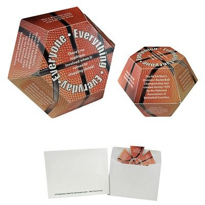 Custom Basketball Annual Pop-Up Calendar Item #BASKETBALL (Min Qty: 1000). Decorate your Promotional Basketball Calendars with your business logo and with no setup fees.