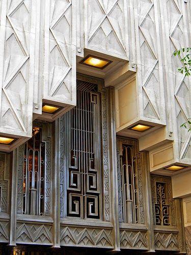 #ArtDeco | Exterior detail, Sinclair Building, Main Street, Fort Worth, Texas, U.S.A. Designed by Wiley G. Clarkson, 1930.