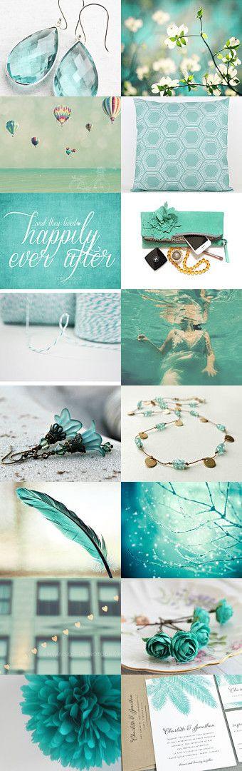 Pretty Shades of Mint & Teal