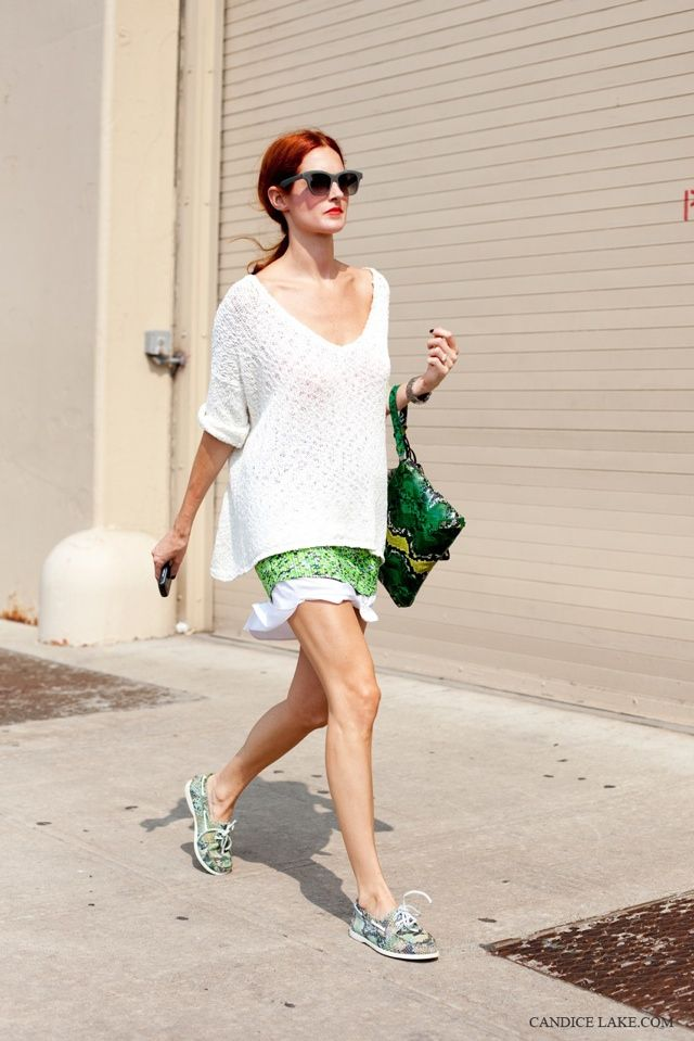 Taylor Tomasi Hill, white + green