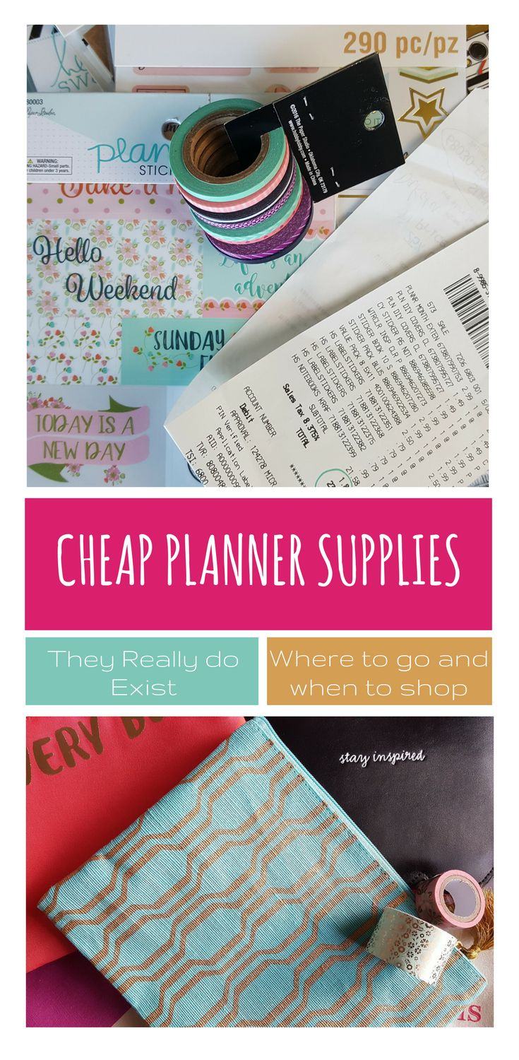 Cheap planner supplies - great list of where to go and the best times to shop via @goodstuffmama