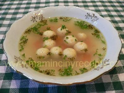 Sýrové knedlíčky do polévky