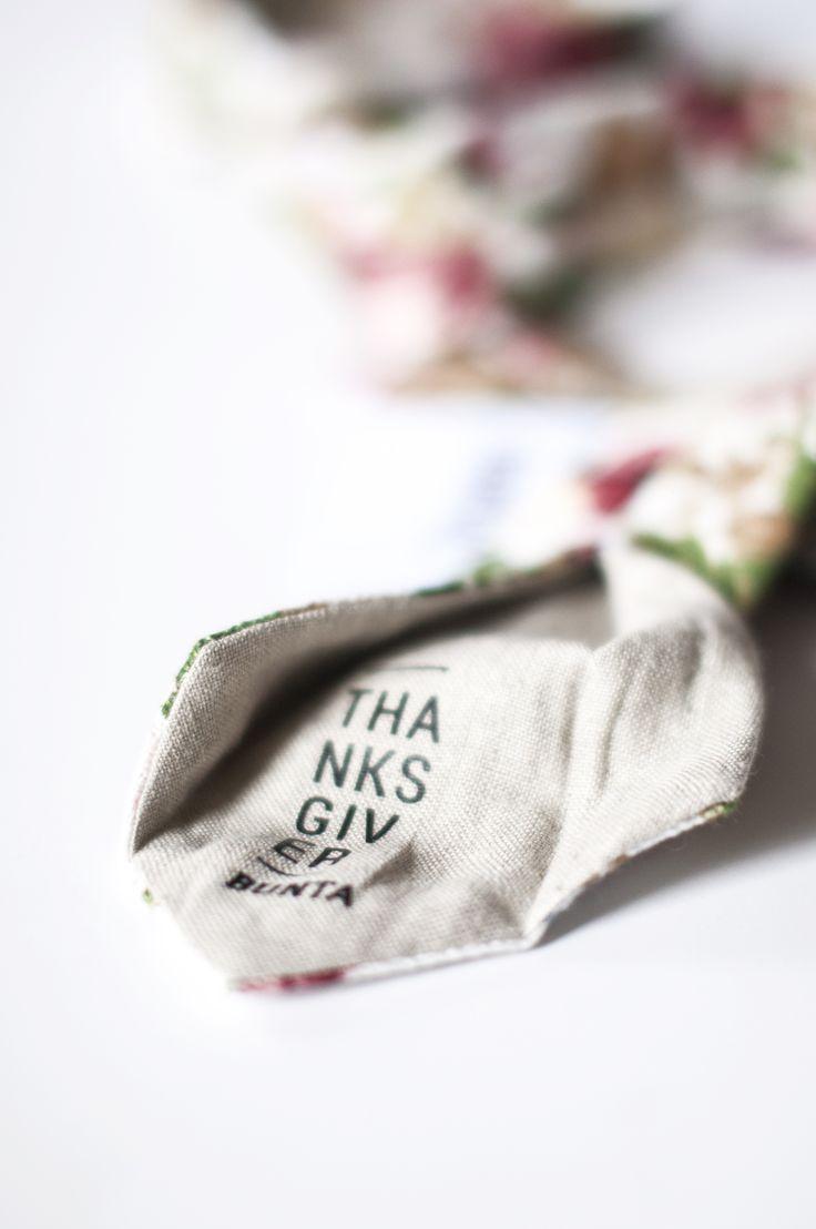 Bunta Thanksgiver floral tie Label   Photo: Nat Rusinowska #tie #floral #menswear