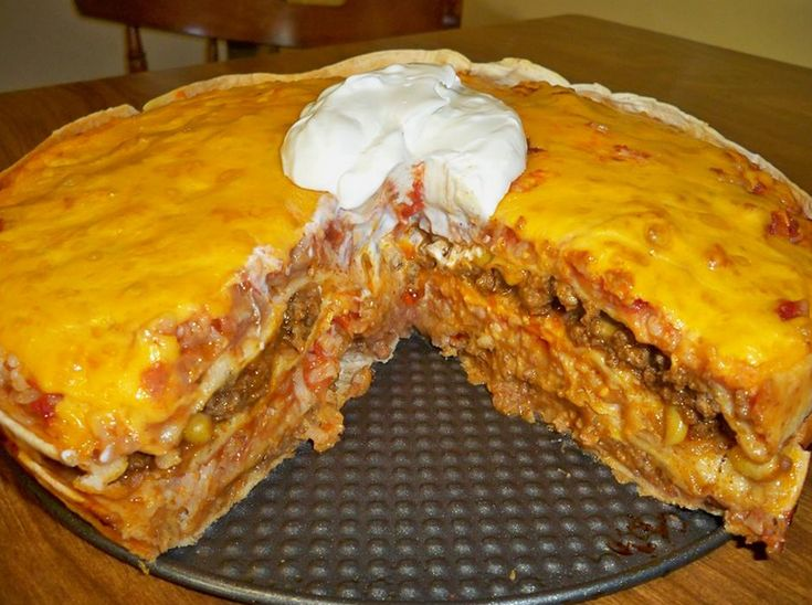 MEXICAN TORTILLA CASSEROLE [ MexicanConnexionforTile.com ] #food #Talavera #Mexican