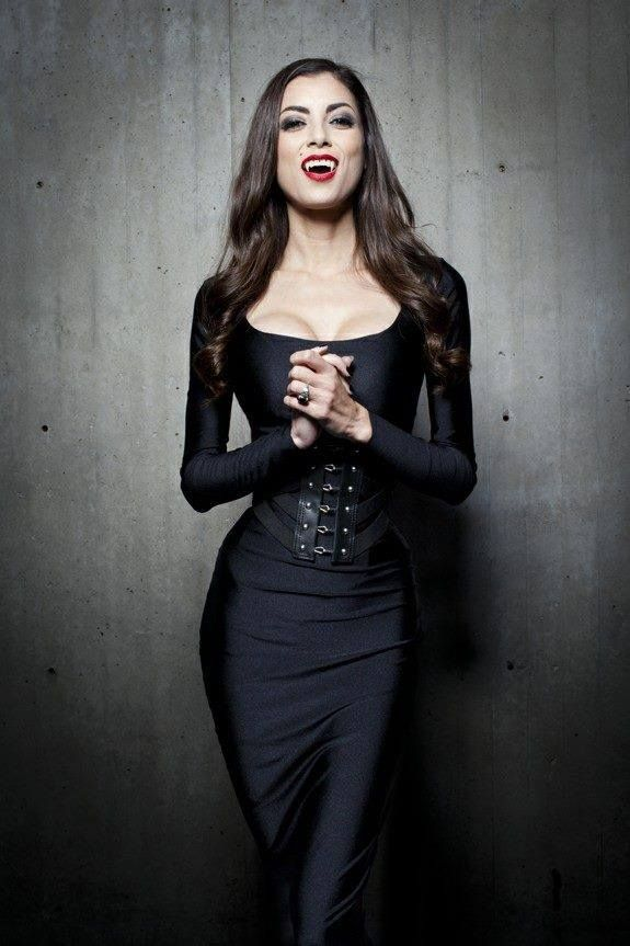 Lee anna vamp wearing VAMP dress by Castle Corsetry ...